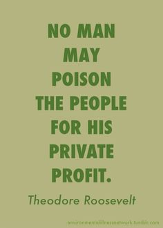 President Theodore Roosevelt - January 1909 I wish Monsanto et. Theodore Roosevelt, Roosevelt Quotes, We Are The World, In This World, Thats The Way, Before Us, Greed, Food For Thought, Me Quotes