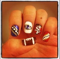 #SuperBowlXLVll #Nails #Baltimore #Ravens #SanFrancisco #49ers #NFL