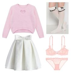"""""""Untitled #268"""" by bandsdestroyamylife on Polyvore featuring L'Agent By Agent Provocateur, Chicnova Fashion and Chicwish"""