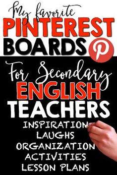 SECONDARY ENGLISH TEACHERS ON PINTEREST by Room 213
