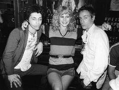 Johnny Thunders, Sable Starr & Iggy Pop, NYC, 1977, by Bob Gruen.