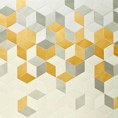 Geometric gold print