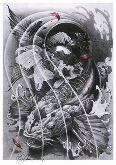 Coy fish sketch - Artem Pelipenko