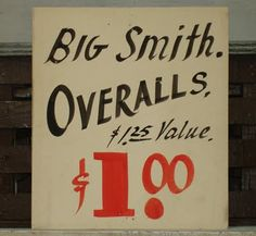 hand painted sign, via Reference Library