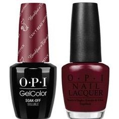 OPI GelColor + Matching Lacquer Can't Read Without My Lipstick #H12