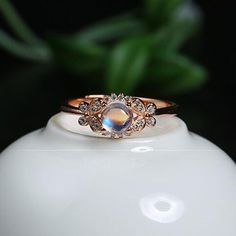 Classic Brilliant Natural Round Blue Moonstone Dainty Women Ring in Sterling Silver Style #100378 USD 73.99   Metal:sterling silver Stone:natural moonstone Size of stone:4x4mm This is an adjustable ring Style:dainty ring