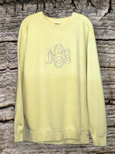 Comfort Colors Monogrammed Sweatshirts by AmyRuthBoutique on Etsy, $39.95