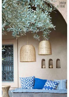 Bamboo Hanging Lamp - Tulip - Light