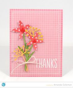 Spring Floral Thanks Card by Amanda Coleman - a Silhouette project