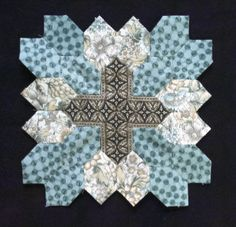 Another version of Lucy Boston Block 4 by Muriel for POTC Blog Along at Little Quilts