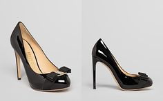 Salvator Ferragamo Black Patent Pump