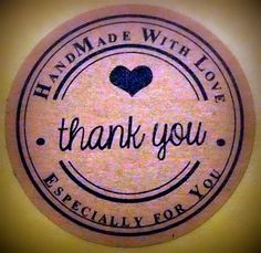 60 Vintage Thank You Kraft Stickers Labels by ForSpecialOccasions