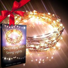 Amazon.com - New Year's SALE 55% Off! Starry Lights By Qualizzi®- 120 Warm White Led's on 20ft Ultra-Thin Copper Wire + FREE Ebook! - Amazingly Bright Led Christmas Lights Create Mesmerizing Hanging Garlands - Best Starry String Lights for Fairy Light Effects for Outdoor Patio Decorations. + 110/220v Pw. Adaptor -