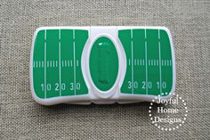 Football Baby Wipes Case by JoyfulHomeDesigns on Etsy