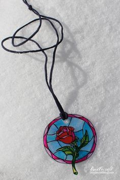 Beauty and the Beast Enchanted Rose Suncatcher!