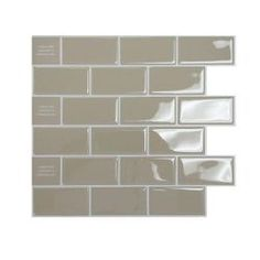 Smart Tiles Peel and Stick Sand Mosaik Decorative Wall Tile
