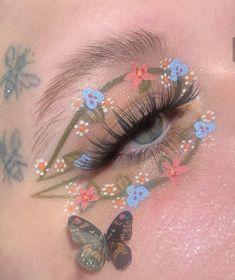 Cute Makeup Looks, Makeup Eye Looks, Eye Makeup Art, Pretty Makeup, Beauty Makeup, Indie Makeup, Edgy Makeup, Makeup Inspo, Makeup Inspiration