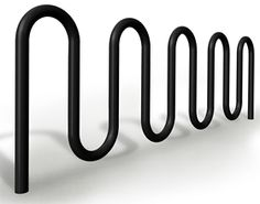 Model BRCS-109: Nine loop bike rack constructed of 2-3/8 in. (60mm) OD tubular steel pipe. Specify in-ground or surface mount.