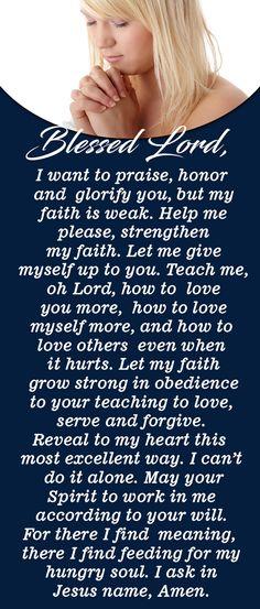 Pray this Powerful Prayer for Strong Faith Prayer Scriptures, Bible Prayers, Catholic Prayers, Faith Prayer, God Prayer, Power Of Prayer, Prayer Quotes, Faith Quotes, Bible Verses