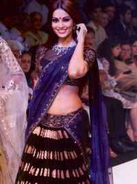 Bipasha Basu Blue Banarasi Bollywood Lehenga Replica