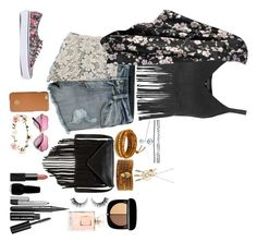 """""""Coachella outfit"""" by alexapimkie on Polyvore featuring Topshop, Boohoo, Vans, J.J. Winters, Tory Burch, Accessorize, Wet Seal, Chan Luu, NARS Cosmetics and Rimini"""