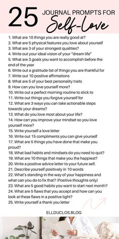 25 Journal prompts for self-love and confidence building. A journaling challenge to help you grow your confidence and love yourself. Journal Topics, Journal Writing Prompts, Love Journal, Poetry Journal, Junk Journal, Journal Ideas, Good Personality Traits, Journal Questions, Confidence Building