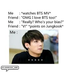 when I first started liking BTS, it took me awhile to remember who was V and who was Jungkook... I have no idea why it was so hard haha