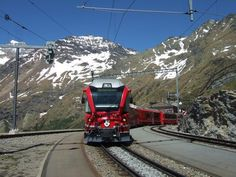 Ride the Bernini Express.  High speed train connects Chur in Switzerland with Poschiavo and Tirano in Italy.
