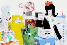"""Play Communs"" Combine Papercraft and Electronics Into Simple Robots"