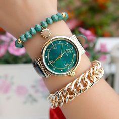 Yeni Trend Yeşil Deri Kordonlu Bayan Saat ve Bileklik Kombini Stok Kodu : # BSK1233XX12CS fiyatı ...