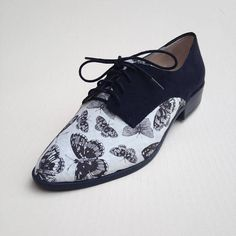 Women's Oxford Shoes  Butterfly Pattern Oxford Shoes