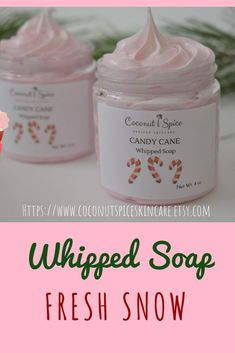 A holiday whipped soap fragranced with peppermint essential oils - makes a great stocking stuffer, coworker gift, Christmas gift for her...Made with fair trade shea butter from Ghana! Super fluffy and whipped soaps make wonderful shaving cream! #whippedso Special Birthday Gifts, Birthday Gift For Wife, Gifts For Coworkers, Gifts For Wife, Friend Gifts, Christmas Gifts For Her, Christmas Ideas, Christmas Recipes, Holiday Fun