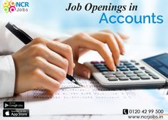 If you want to be a part of Accounts and Finance department for getting high paid jobs then you can just visit NCRJobs portal and apply for the same. #NCRJobs #JobsInAccounts See more @ goo.gl/zSq4dy