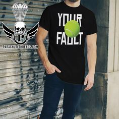 Not My Fault Tennis You've now found the staple t-shirt of your wardrobe. And the double stitching on the neckline and sleeves add more durability to what is sure to be a favorite! Tennis Shorts, My Fault, Short Sleeves, Unisex, Mens Tops, T Shirt, Fun, Humor, Supreme T Shirt