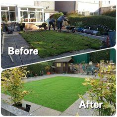 Before and After  #WestLothianLandscapeDesign #artificial #fakegrass #artificialgrass #astroturf #grass #syntheticgrass #syntheticturf #garden #landscape #gardening #scotlandUK