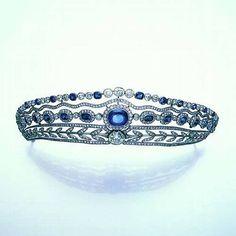 Belle Epoque Sapphire and Diamond tiara