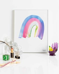 Museum-quality, matte, giclée prints on heavy archival paper. Framed in sustainable alder wood drawn from renewable forests. Hope Symbol, Rainbow Painting, Rainbow Print, Walking In Nature, Poster Making, Online Art, Book Design, Giclee Print, Sky