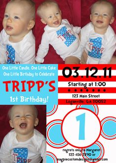 Printable Personalized Dr. Suess Party Birthday Invitation $15