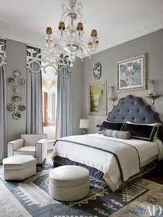 Darker Gray Painted Master Bedroom.