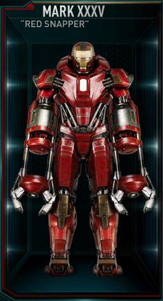 Iron Man Hall of Armors: MARK XXXV - Red Snapper