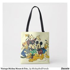 Medium UPD Disney Mickey Mouse Reusable Tote Bag Multicolor