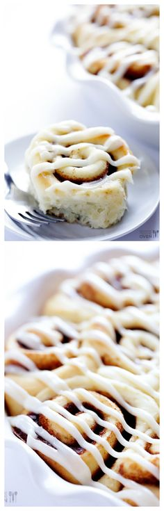 These 1-Hour Cinnamon Rolls are super easy to make, and taste like you spent all day on them! gimmesomeoven.com #breakfast