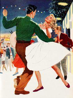 Guinguette - Affiche d'Art de la collection vintage de Slap Boutique : Le Grenier