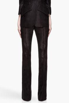 ALEXANDER MCQUEEN Black Jacquard Honeycomb Runway trousers