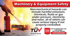 Accidents can be prevented by easily identifying hazards associated with machinery and equipment. For further queries how we can assist: tuvat.asia/get-a-quote, or call Pakistan: +92 (42) 111-284-284 | Bangladesh +880 (2) 8836404 | Sri Lanka +94 (11) 2301056 to speak with a representative. #ISO #TUV #certification #inspection #pakistan #bangladesh #srilanka #lahore #karachi #colombo #dhaka #quality #safety #machine