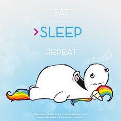 #Pummeleinhorn - eat sleep repeat