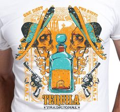 T Shirt Men Tequila Tradicional Gift for Men Alcohol Mexican
