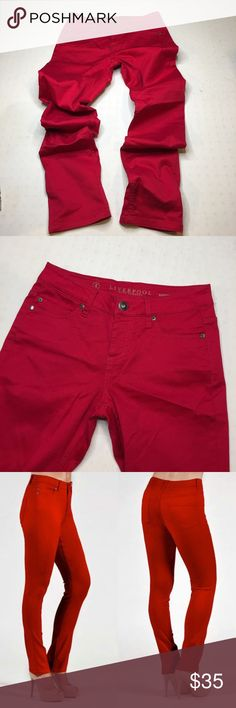 """NWOT Liverpool  Sadie Straight Crimson jeans Liverpool Jeans Sadie Straight Crimson Straight lightweight jean with classic Liverpool comfort and stretch. Waist 30"""" inseam 32"""". NWOT. Excellent condition no flaws.   82% Cotton/16% Polyester/2% Spandex Imported Machine Wash The size tag inside the product includes American/ European size Sadie straight from the revolution sateen collection Zip-fly button front closure, belt loops 9.25-inch front rise, 32-inch inseam, 12-inch leg opening Hang…"""