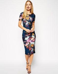 Enlarge ASOS Floral Print Scuba Body-Conscious Dress  $86