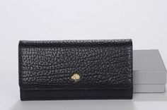Mulberry Spring Summer 2015 Catwalk Collection Outlet UK-Mulberry Tree Wallet in Black 8909